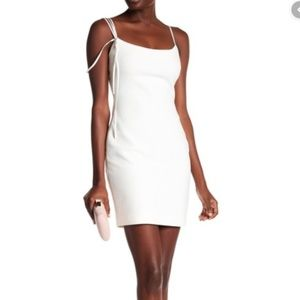 Cinq a Sept Mija strappy white bodycon mini dress